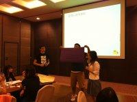 小組討論成果發表之上台分享-金融服務業
